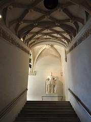 Escalier d'honneur, château royal de Pau, Béarn, Pyrénées-Atlantiques, Nouvelle-Aquitaine, France.