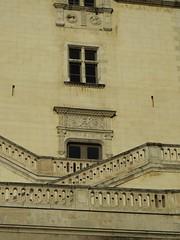 Jeu de terrasses et de fenêtres, aile Renaissance (XVIe), château royal de Pau, Béarn, Pyrénées-Atlantiques, Nouvelle-Aquitaine, France.