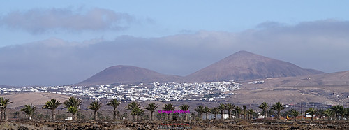 White houses and volcanos in Lanzarote