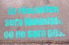"""La révolution sera féministe ou ne sera pas"" Strasbourg 2019"