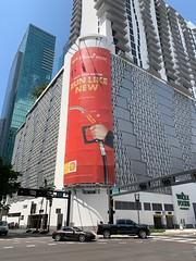 Shell Gasoline Ad Downtown Miami