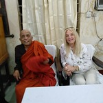The Venerable and Vassula at the guests lounge of the Buddhist Monastery