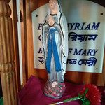 Statue of our Lady - Beth Myriam Sign Kulun Village