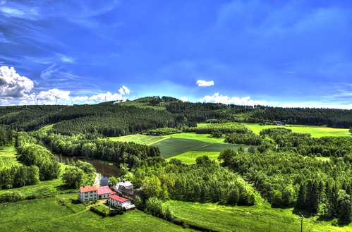 View from the Skywalk in Pottiga Germany