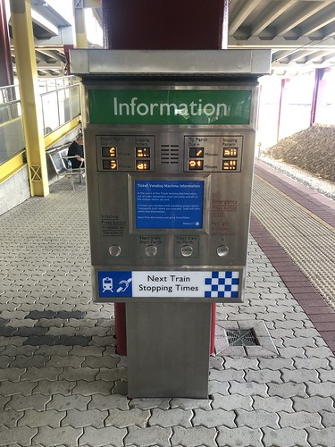 Passenger information at Whitfords railway station