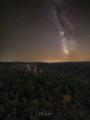 """Image by the_lowe_life (jwlowe) and image name """"Half Moon Rising"""" photo  about The Milky Way over Half Moon Rock in the Red River Gorge. This photo was taken back in 2017 with my good friend John McCubbin and Dave Dotson. The foreground and sky images were taken on the same night from the same location and merged in Photoshop"""