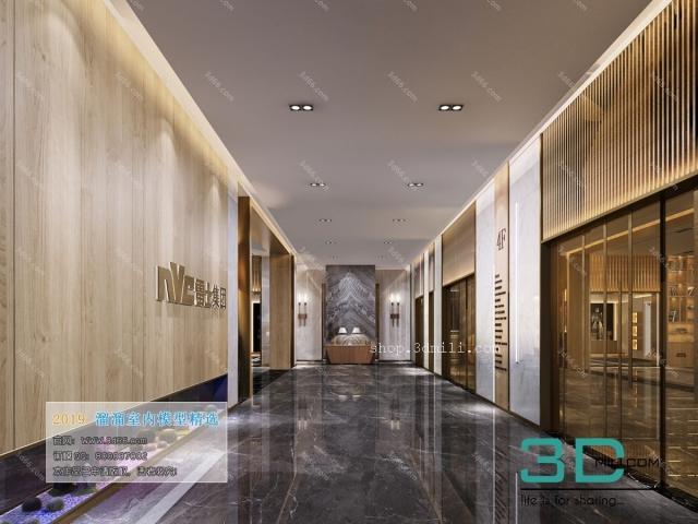 [3d66 2019] 14-电梯过道 Elevator Lobby & Aisle - 3D Mili - Download 3D Model -  Free 3D Models - 3D Model Download