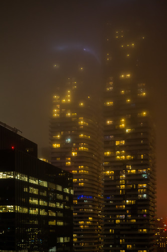foggy in Toronto