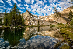 Twin Lake clouds of morning and lake reflection