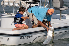 Father & Son with Dog & Catch and Release Tarpon