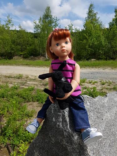 Clara beim Steinbruch