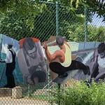 Workmen, public art, park on Compromise Street, Annapolis, Maryland