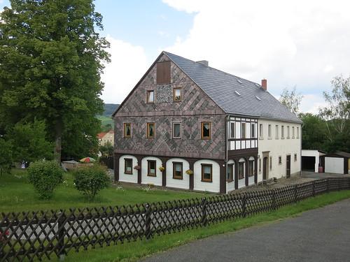 Bertsdorf - Umgebindehaus / Dom przysłupowy