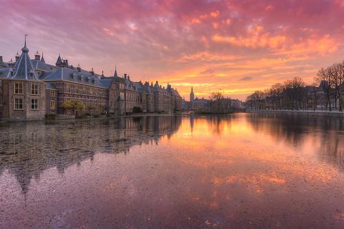 Binnenhof at Sunset