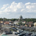 Spa Creek inlet, view to Naval Academy Chapel, Annapolis, Maryland