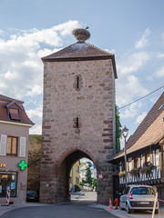 La porte de Blienschwiller et ses cigognes - Photo of Hilsenheim