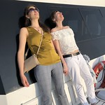 Colleagues take in the sun aboard the Lady Sarah, Chesapeake Bay near Annapolis, Maryland