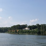 House on cliffs above the Severn River near Annapolis, Maryland