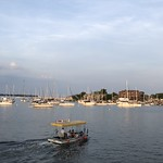 Water taxi on Spa Creek, June evening at Annapolis, Maryland