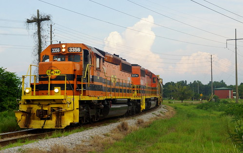 ALABAMA & GULF COAST SD40-2 #3356 AT MOBILE, AL