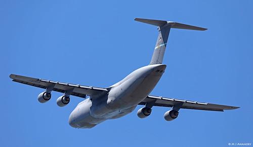 United States Air Force Lockheed C-5M Super Galaxy 87-0036 departing NAS Rota/LERT