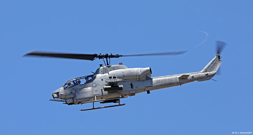 United States Marine Corps Bell AH-1W Super Cobra Attack Helicopter 165331/EH-42, VMM-264 at NAS Rota/LERT