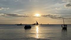 Dhow Sunset.  Stone Town, Zanzibar, Tanzania.