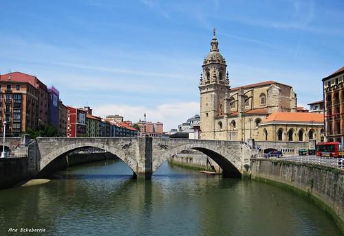 Puente e iglesia de San Antón  ...Bilbao