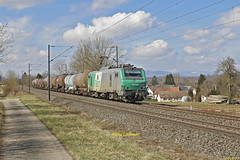 BB 27089 Train 489258 Sibelin-Mulhouse Nord à Retzwiller