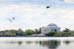 Guarding the Jefferson Memorial