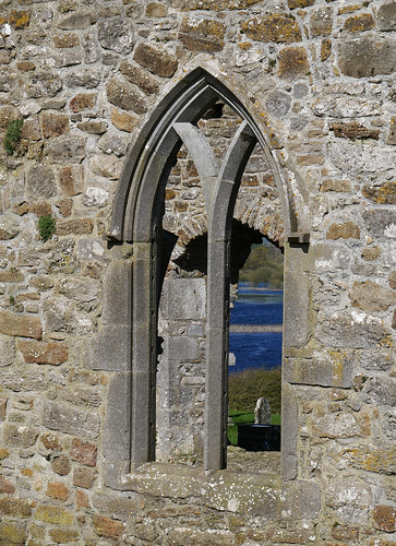 Clonmacnoise Cathedral window