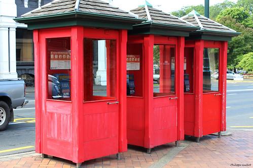 Dunedin : cabines téléphoniques