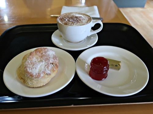 Postcards from Scotland - Scone and Jam and Cappuccino