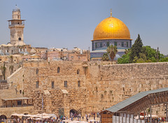 Dome of The Rock and Western Wall, Temple Mount, Jerusalem