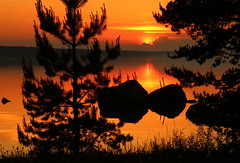 The friday evening sunset.