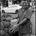The Durian Seller - Chinatown Singapore