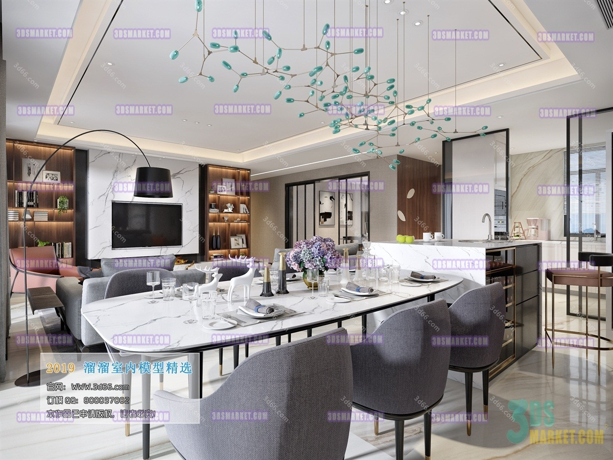 [3D66 2019] 02 - Dining Room & Kitchen Collection 2