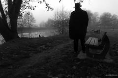 L'homme au chapeau et la rivière - Photo of Champfleur