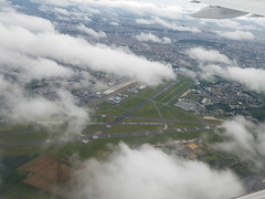 Paris Le Bourget Airport after CDG take-off