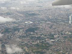 Paris St Denis and Stade de France after CDG take-off - Photo of Saint-Denis