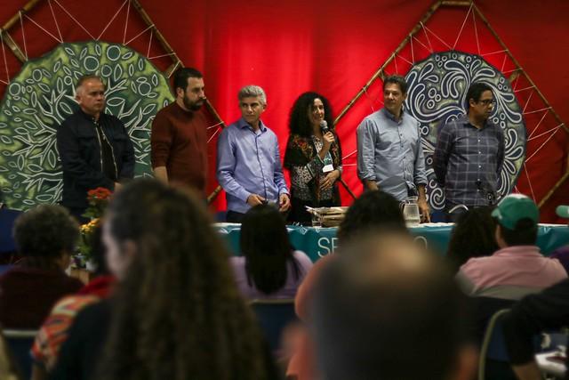 Em ato público com a presença de políticos progressistas, foi lançada carta construída por mais de 50 organizações - Créditos: Foto: Pedro Stropasolas