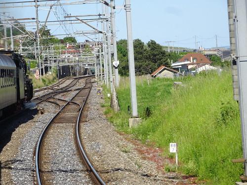 Einfahrt Bahnhof Auvernier