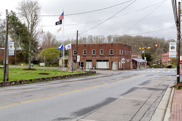 Downtown Hayesville Intersection