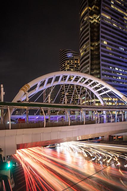Chong Nonsi Bridge @ Night, Bangkok