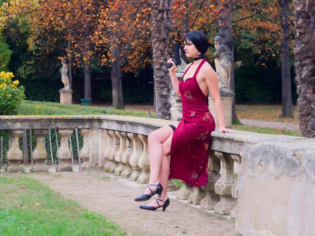 related image - Shooting Resident Evil - Ada Wong - Jardin de la Magalone - Marseille -2018-11-11- P1411193