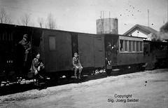 F-25160 Malbuisson (25) Gare Compagnie des chemins de fer du Doubs locomotive à vapeur 8 (Buffaud-Robatel 1899) April 1944