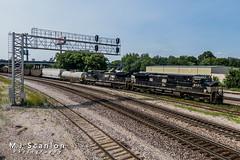 NS 9821 | GE C44-9W | NS Memphis District West End
