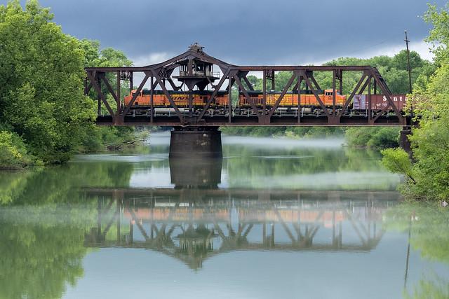 Ballast Train Crossing the River