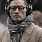 Headphones and Scarf