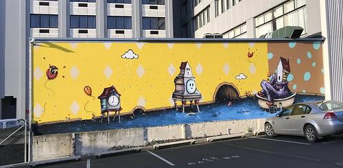 Dunedin street art - by Jacob Yikes 2018